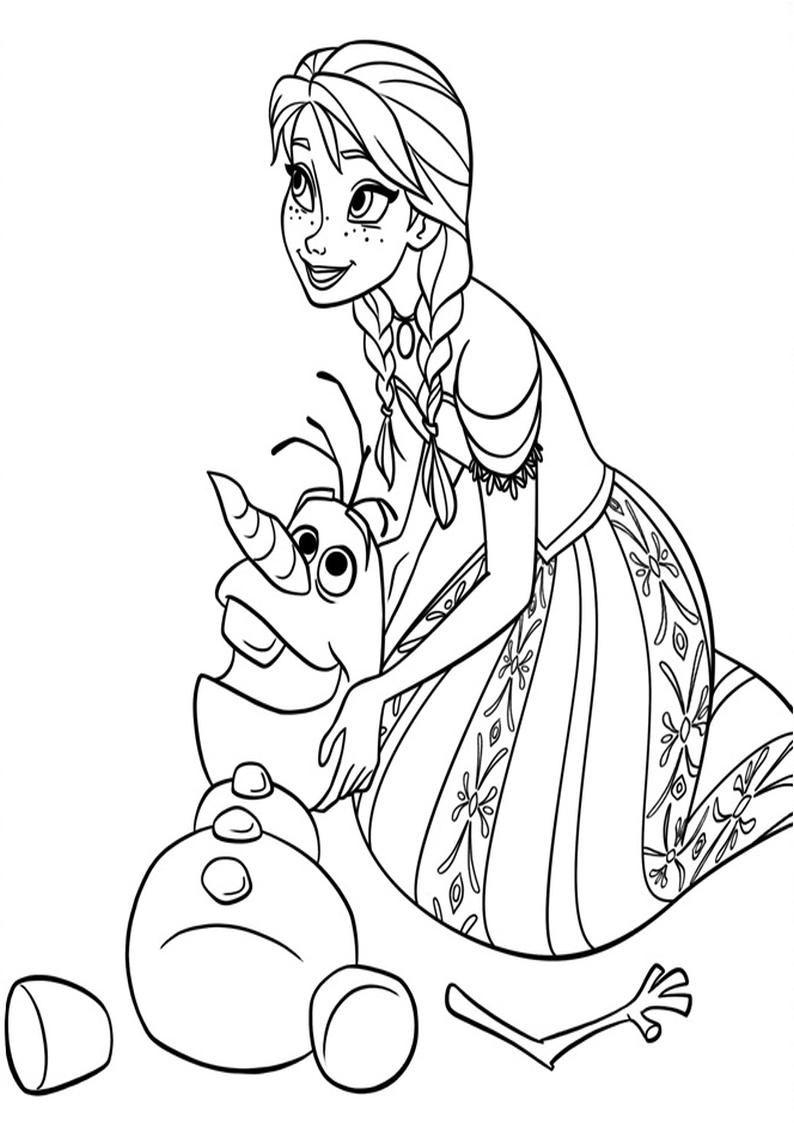 Kolorowanka Dla Dzieci Disney Kraina Lodu Kolorowanki Frozen