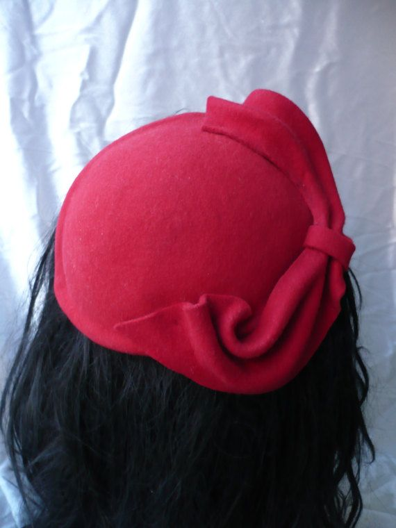 50s style red fascinator 589c32e557a