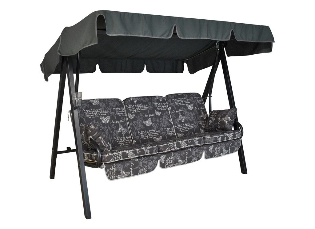 Hollywoodschaukel design  Select Hollywoodschaukel (3-Sitzer) Design Schmetterling grau ...