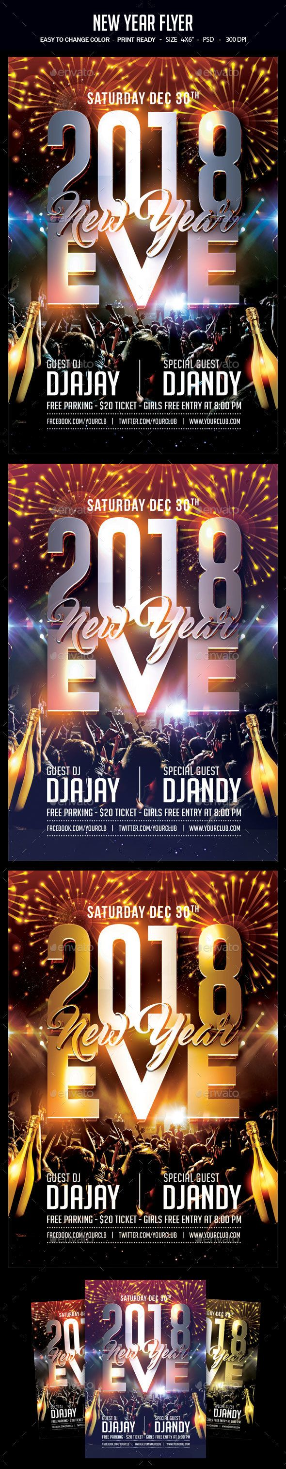 New Year Flyer  Event Flyers Party Flyer And Flyer Template