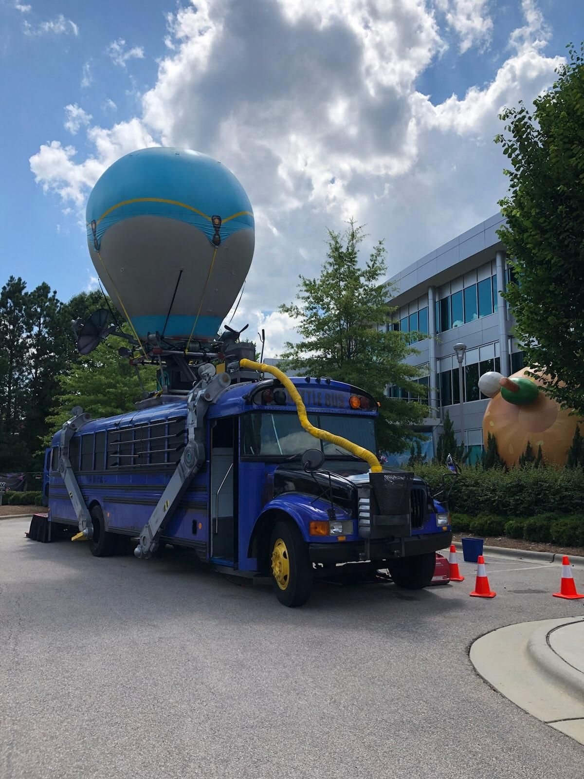 Close Up Of The Fortnite Battle Bus That Was At Epic Games Hq Last