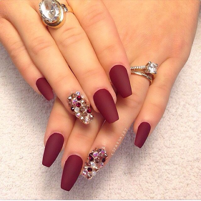Bordeaux red nails #bordeauxred #nails | Νύχια | Pinterest | Red ...