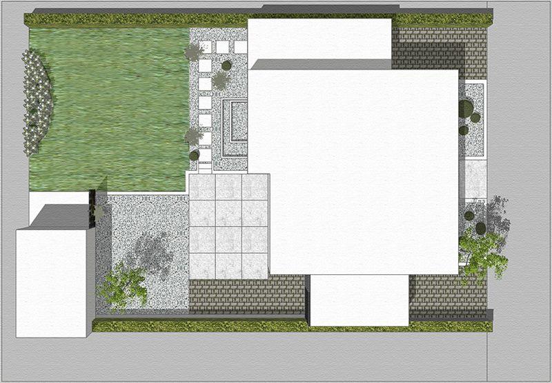 neubau eines hausgartens mit r ume bildenden bereichen aus. Black Bedroom Furniture Sets. Home Design Ideas