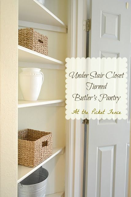 Under Stair Closet Turned Butlers Pantry Butler pantry Pantry