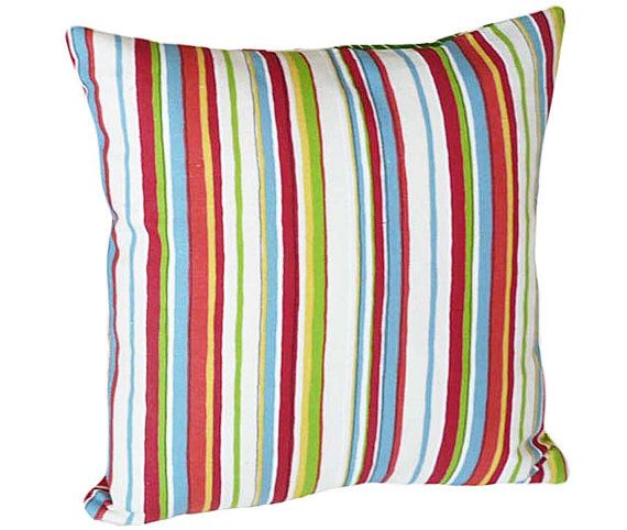 Colorful Throw Pillows Striped Decorative Throw Pillow