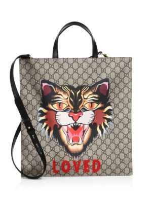 57979c92a1c0 GUCCI Angry Cat-Print Soft Gg Supreme Tote. #gucci #bags #hand bags #canvas  #tote #