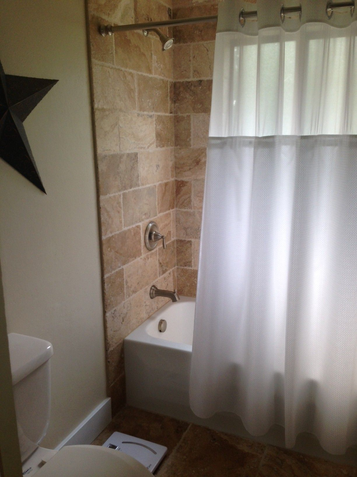 Bathroom Shower 8x16 Tile Tumbled Picasso Travertine