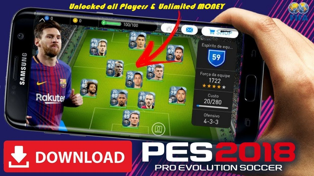 PES 2018 Mod Apk Unlocked Players and Infinite Money