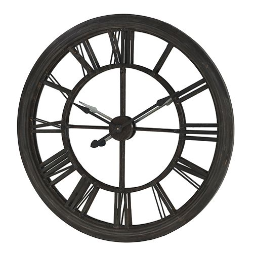 Mirrored Wall Clock large mirrored back metal clock large metal framed clock with