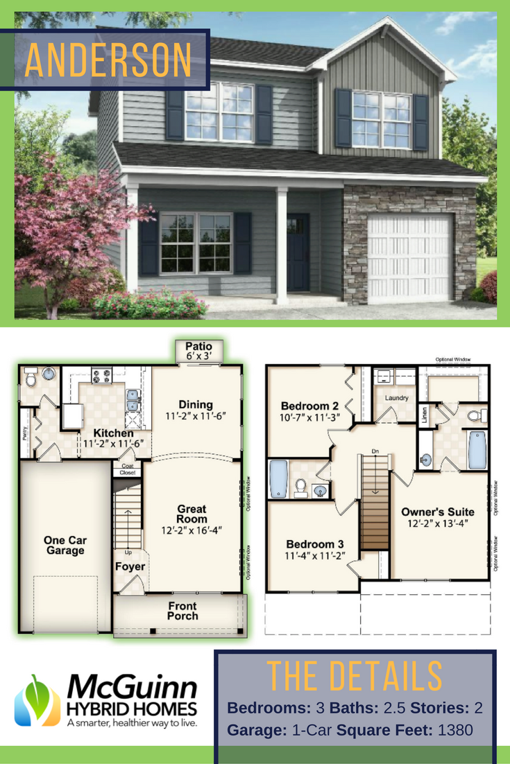 Are You Looking For The Perfect 2 Story Floor Plan Discover The Flexibility Of The Anderson 3 Bedroom N House Construction Plan Floor Plans Small House Layout