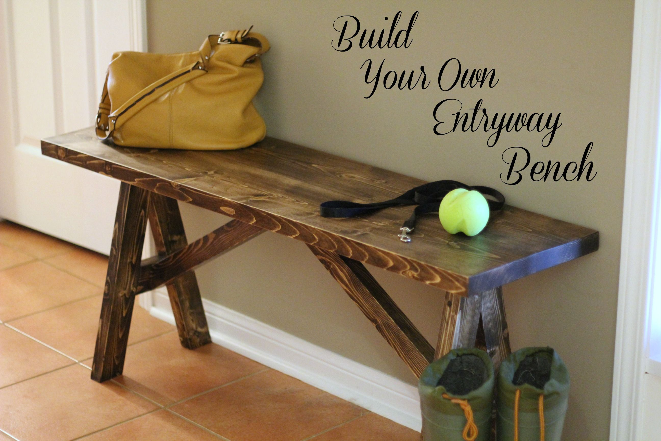 Next DIY project? Build your own entryway bench Entryway