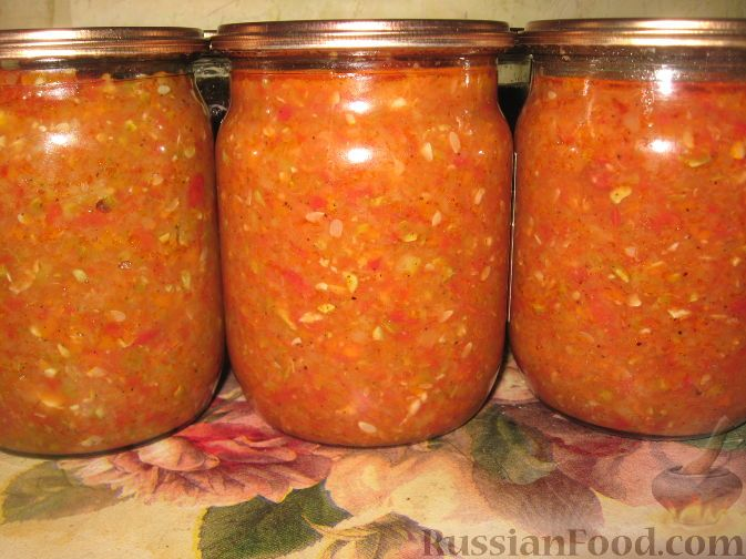кабачки морковь помидоры лук салат