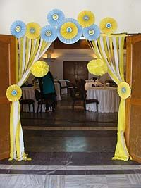 Welcome/Entrance Arch - Yellow and Blue Baby Shower