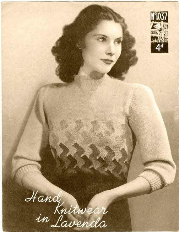 VINTAGE KNITTING  pattern  1930's Womens Sweater 127 by arttoart, $2.00