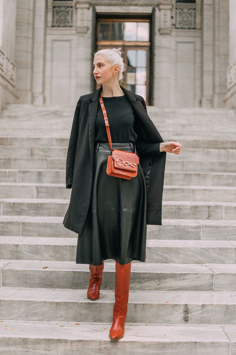 Midi Skirts & Boots in 2020 | Winter dress outfits, Chic