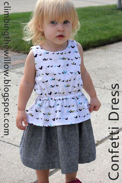 Mädchen / Kleinkind Kleid nähen das aussieht wie ein Oberteil mit ...