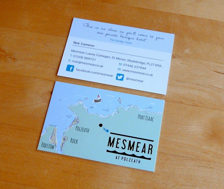 Beautiful business cards for luxury holiday cottages by Pickle ...