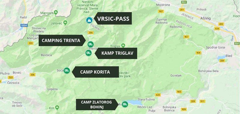 Camping im Triglav Nationalpark (Slowenien) Unsere
