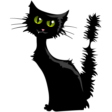 Halloween Cat Halloween Cat Black Cat Halloween Cat Emoticon