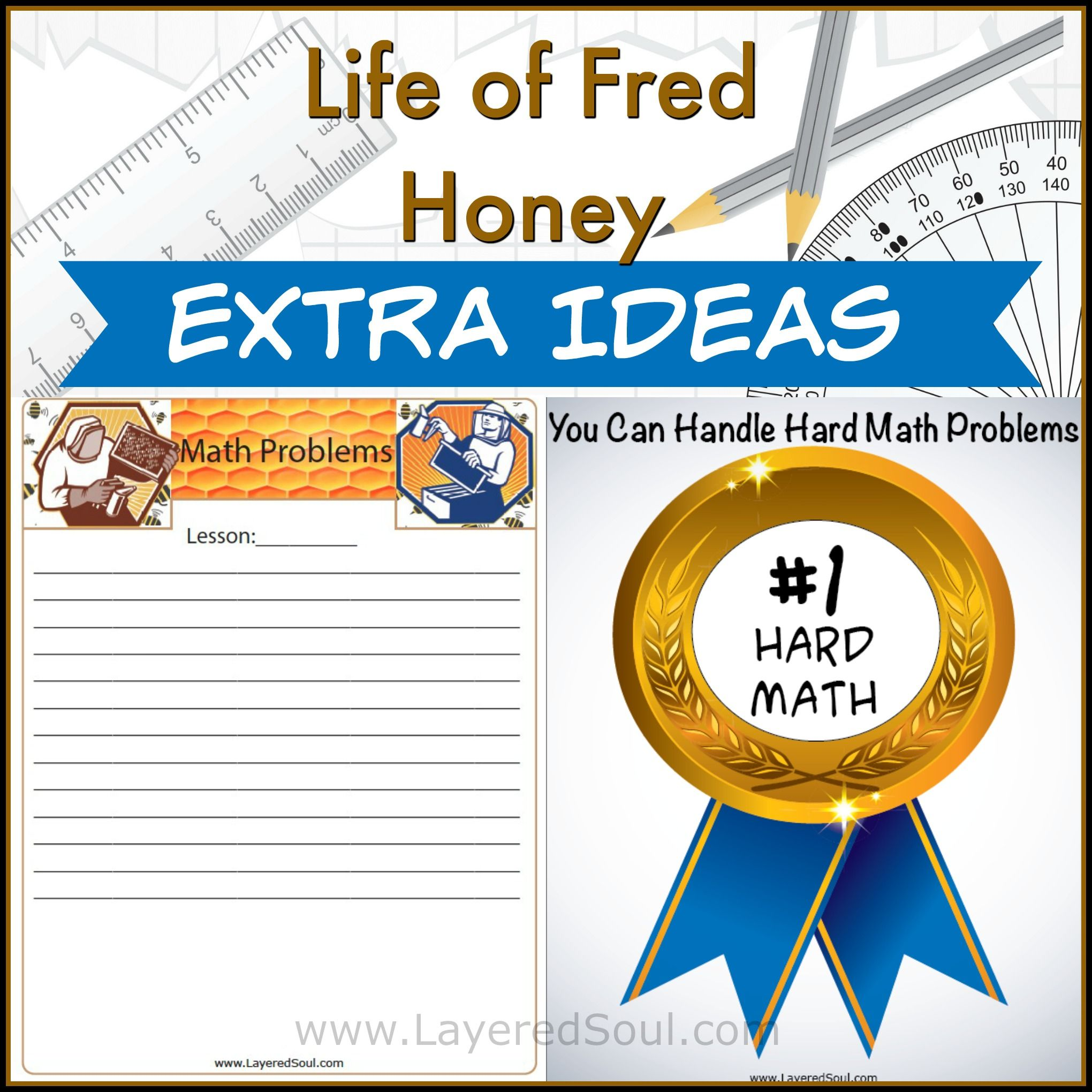 Life of fred honey extra resources with images