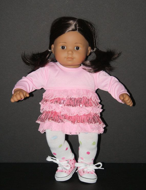 AMERICAN GIRL Bitty Baby 15 Doll Pink Sequin Ruffled by weeline ...