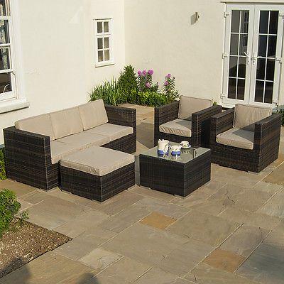 Maze rattan outdoor garden #furniture #georgia rattan 3 seat sofa & #armchair set,  View more on the LINK: http://www.zeppy.io/product/gb/2/151776038789/