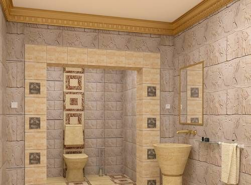 Modern Egyptian style bathroom Egyptian casa Pinterest