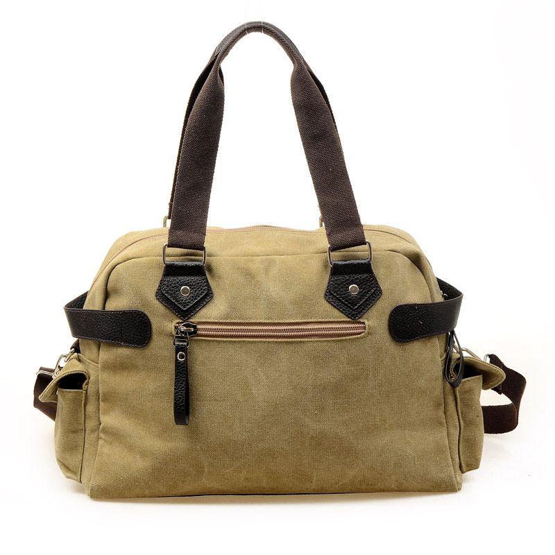 canvas shoulder cross-body travel bag.