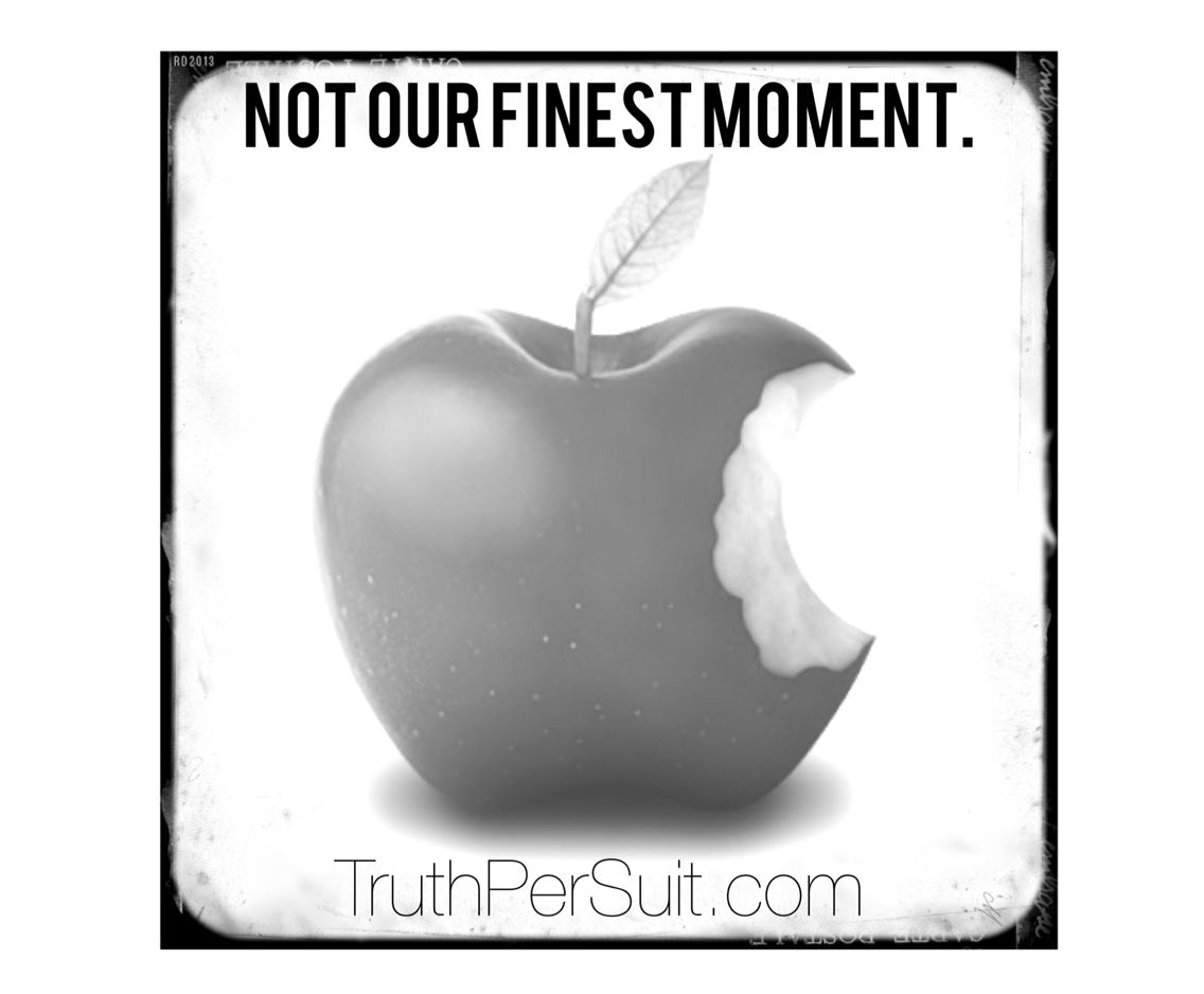 Not our finest moment #apple #brandingirony www.TruthPerSuit.com