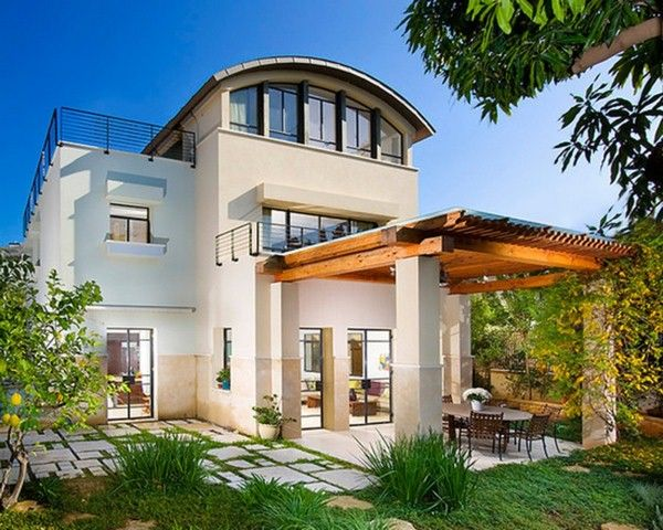 Contemporary-Exterior-Pergola-Above-Patio-For-Rear-Covered-Upstairs-Porch-Grassed-Pavers-For-Entrance-Area-Plus-Pergola-Structure-For-Pool-Listed-In-Contemporary-Pool-Roof-for-Your-House