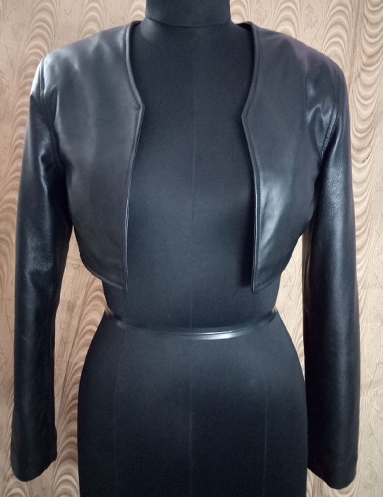 46bd8c8c334 Women 100% Real Lambskin Leather Crop Moto Bolero Shrug Biker Jacket  Slim-fit  fashion  women  trends  moda  coats