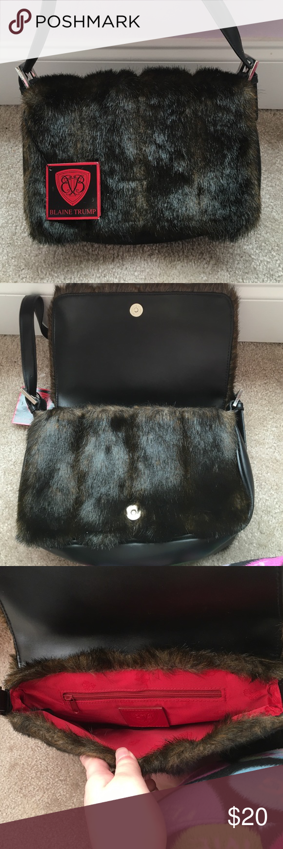 Blaine Trump Faux Fur Handbag Never Been Used Still Has The Tag On It Bags Shoulder