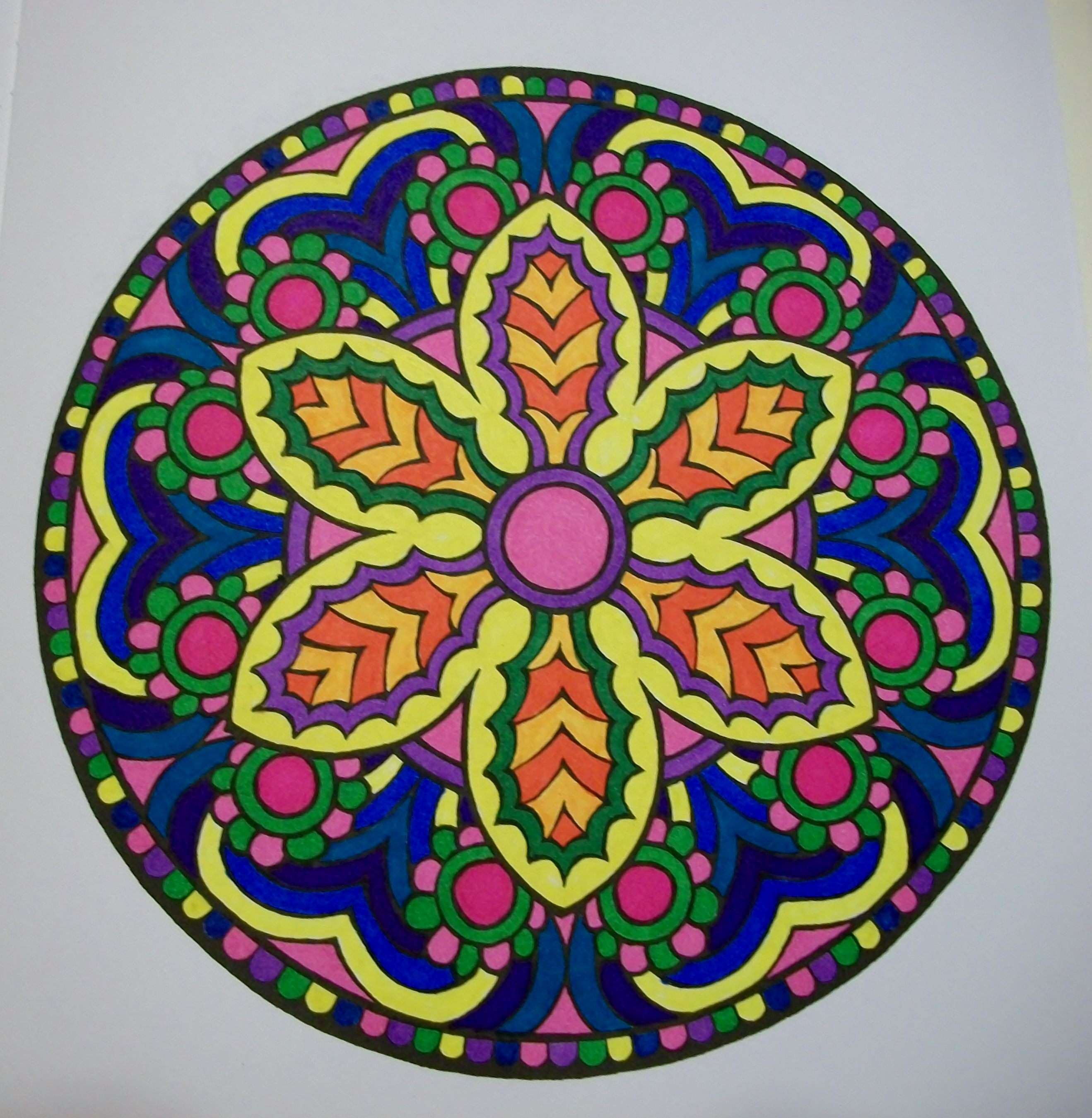 Mandala coloring pages amazon - Used Bic Fine Point Markers For This One Mystical Mandala Coloring Book Purchased From