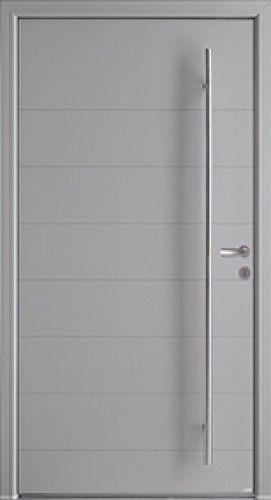 Modle Phosphore Porte DEntre Aluminium Contemporaine Sans Vitrage