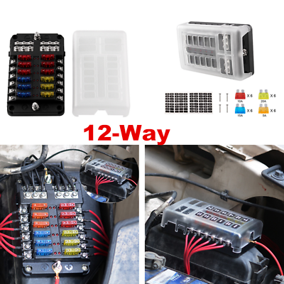 Sponsored 12 Way Blade Fuse Box Holder Power Block Holder For Car Rv Trailer Boat 12v In 2020 Fuse Box Rv Trailers Airstream Remodel