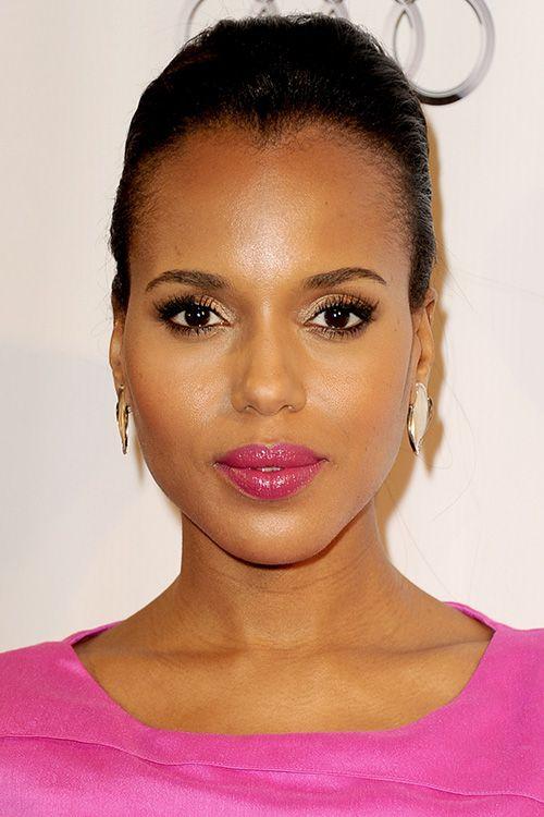 Kerry Washington Pulls Off Hot Pink Lipstick Like A Pro