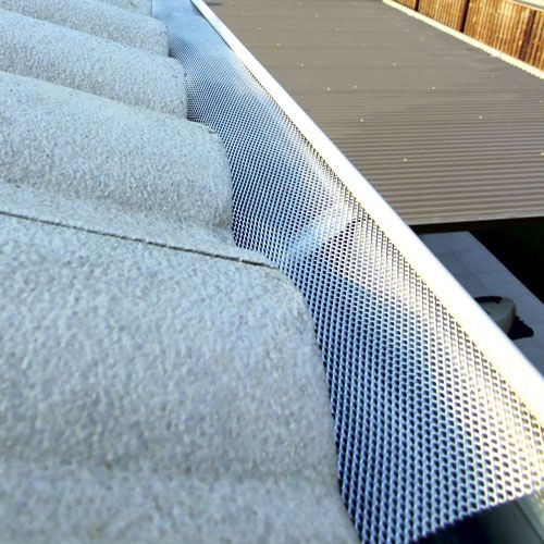 Aluminium Gutter Guard 5 Sheets At 1 2m Stratco Store Prices May Vary Depending On Location Within Australia Gutter Guard Sheets Gutter