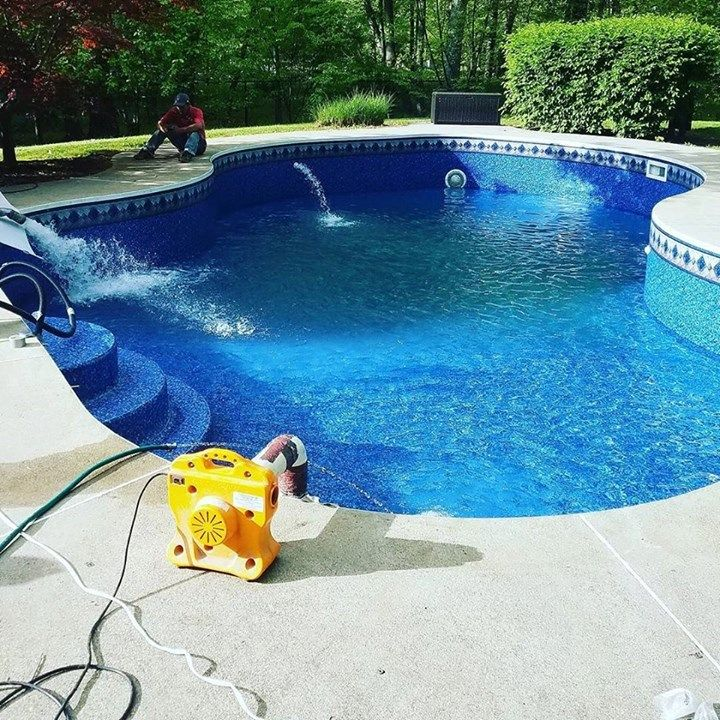 The New Liner Came Out Nice Swimmingpool Longvalley Nj Water Delivery Swimming Pools Long Valley