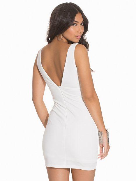 Nelly.com: Plunge Mini Dress - Rare London - nainen - White