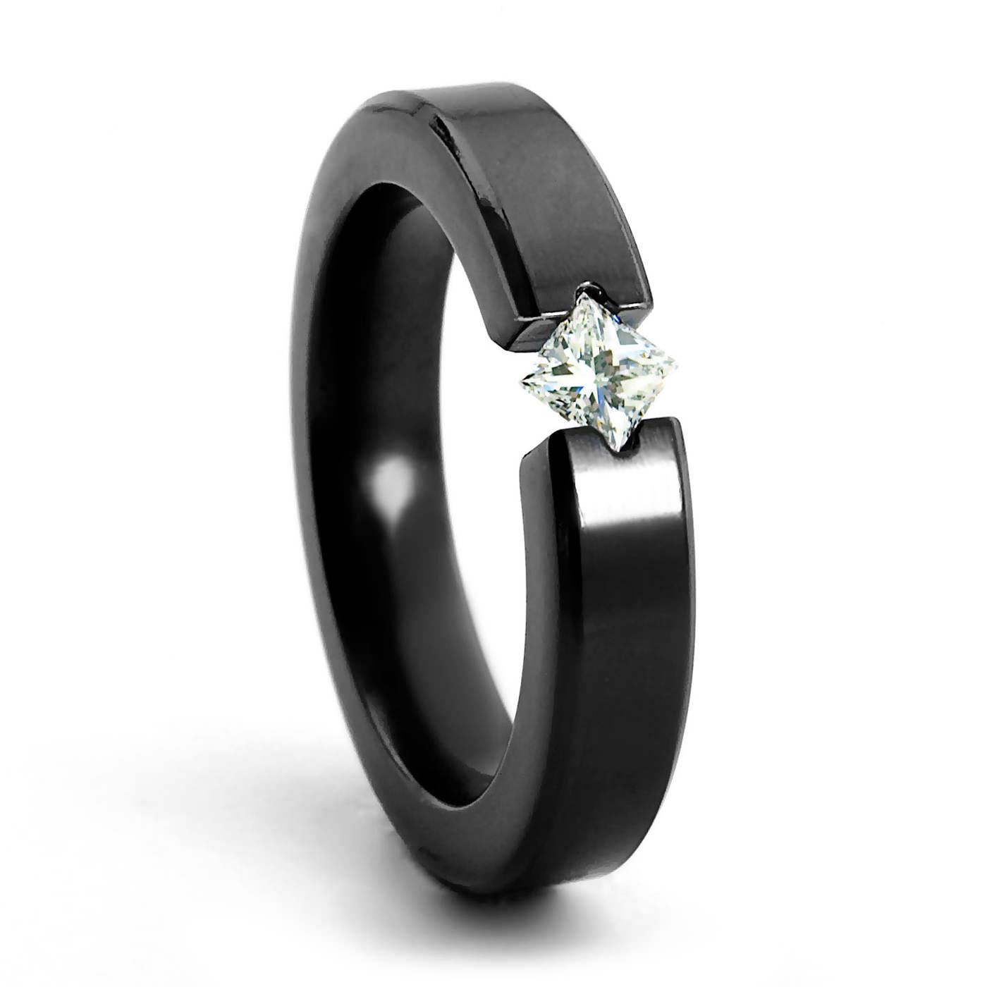 bands women images banded rings with wedding band ring black steel sparkle search stainless