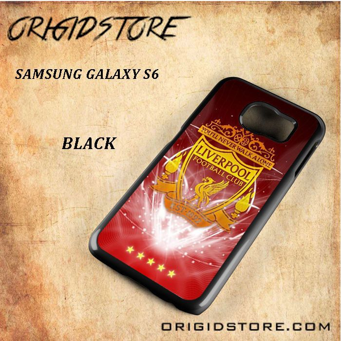 Liverpool Football Club Logo Black White Snap On 3D For Samsung Galaxy S6 Case