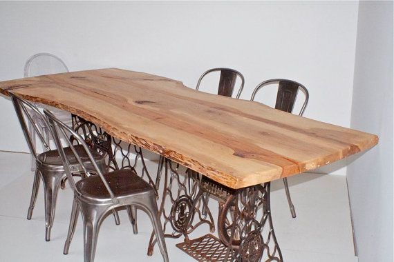 Dining Table Industrial Iron Vintage Pecan by  : f0abe02711c58b1925ce1a61044b5e32 from in.pinterest.com size 570 x 380 jpeg 48kB