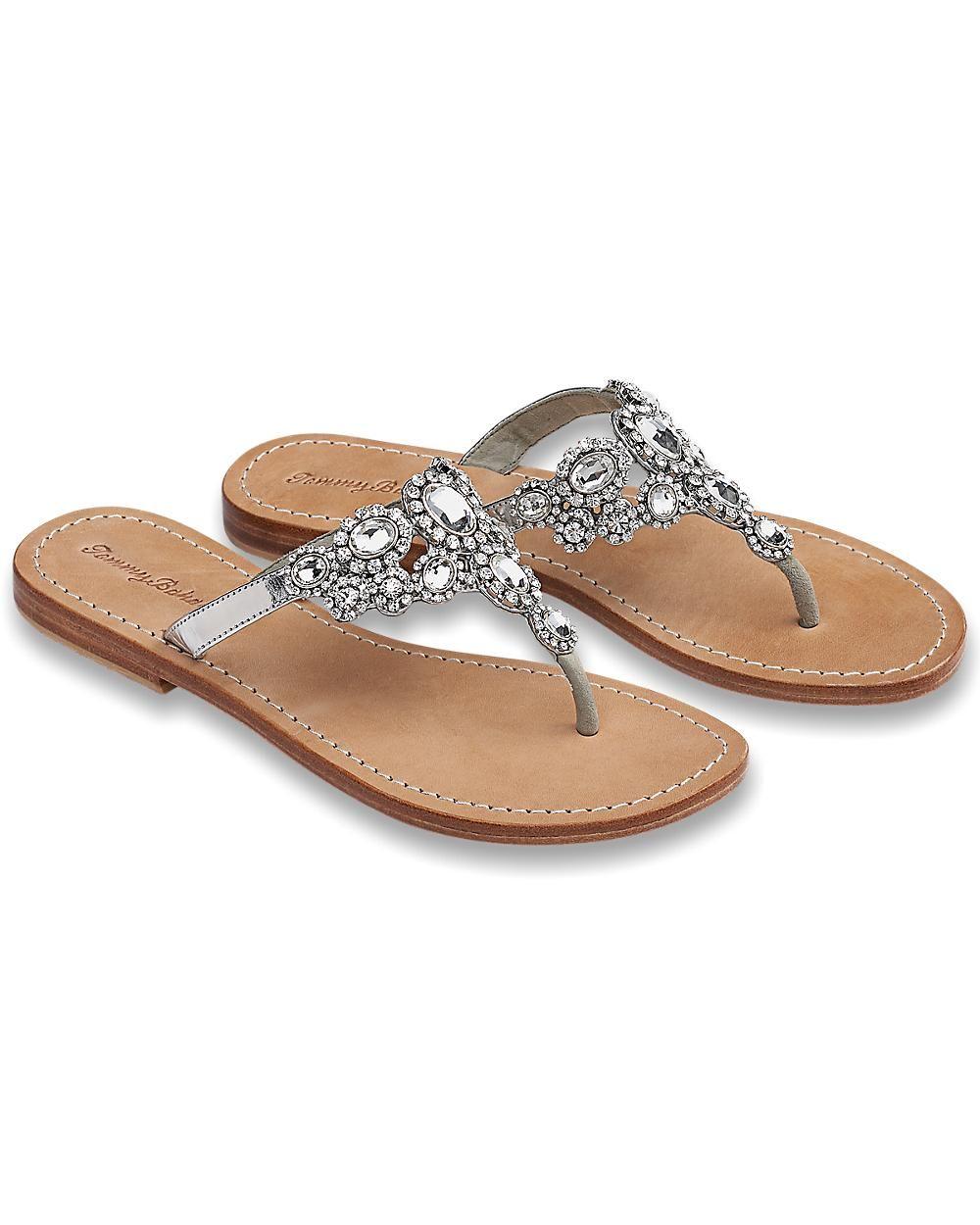 9bea155b05e742 Crystal Flat Sandals