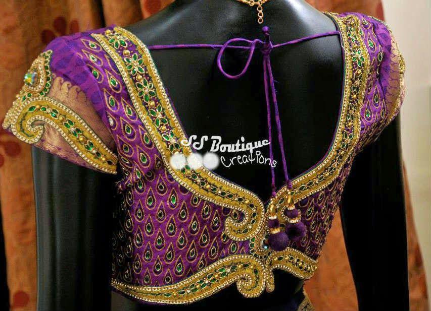 Photo of Kundan Work Wedding Blouse – South India Fashion