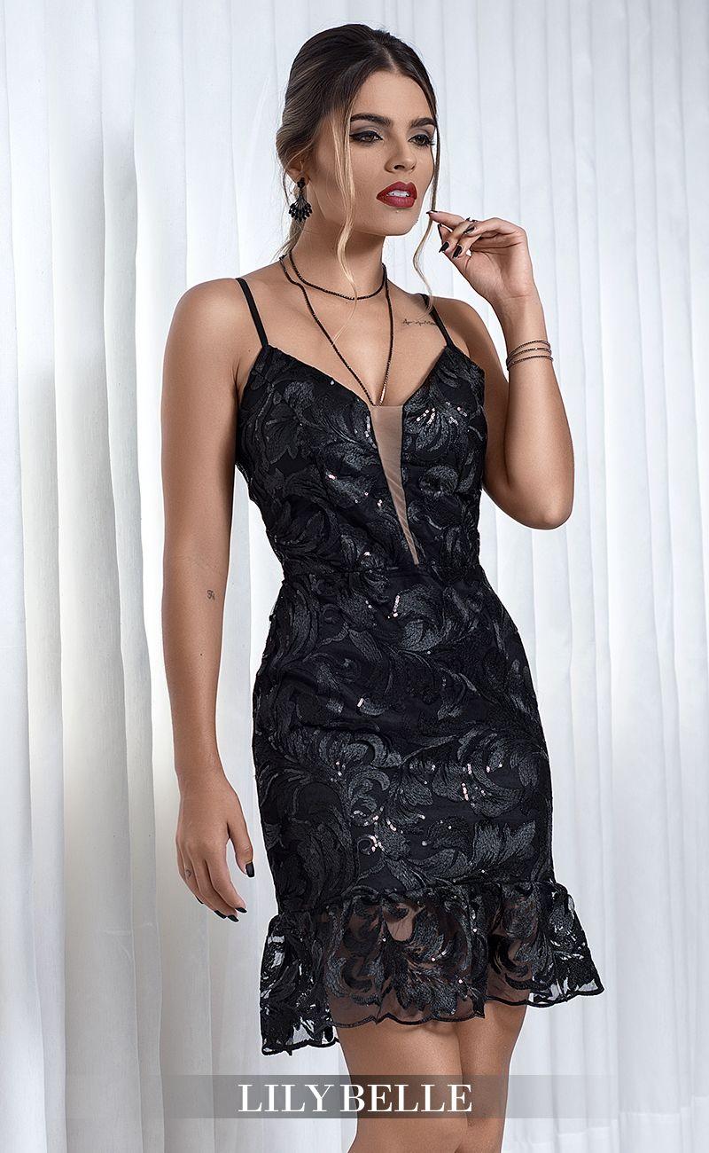 Vestido Lily Belle Vestido De Festa Curto Vestido Em Renda