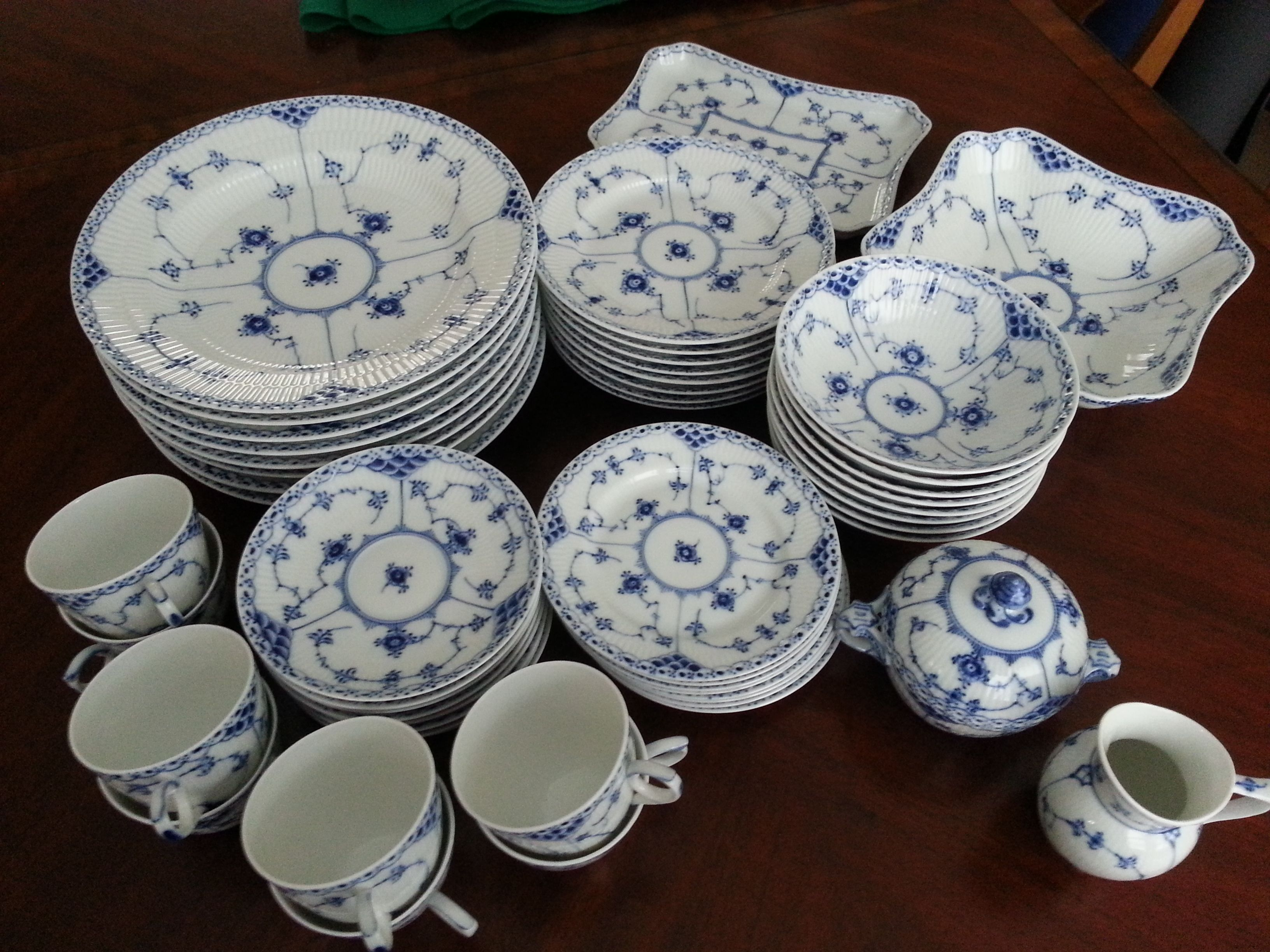 Royal Copenhagen Dinnerware Dishes Lace China Ebay Flutes Royals Dinner Ware & Pin by Judith Hollier on Royal Copenhagen Blue Fluted Half Lace ...