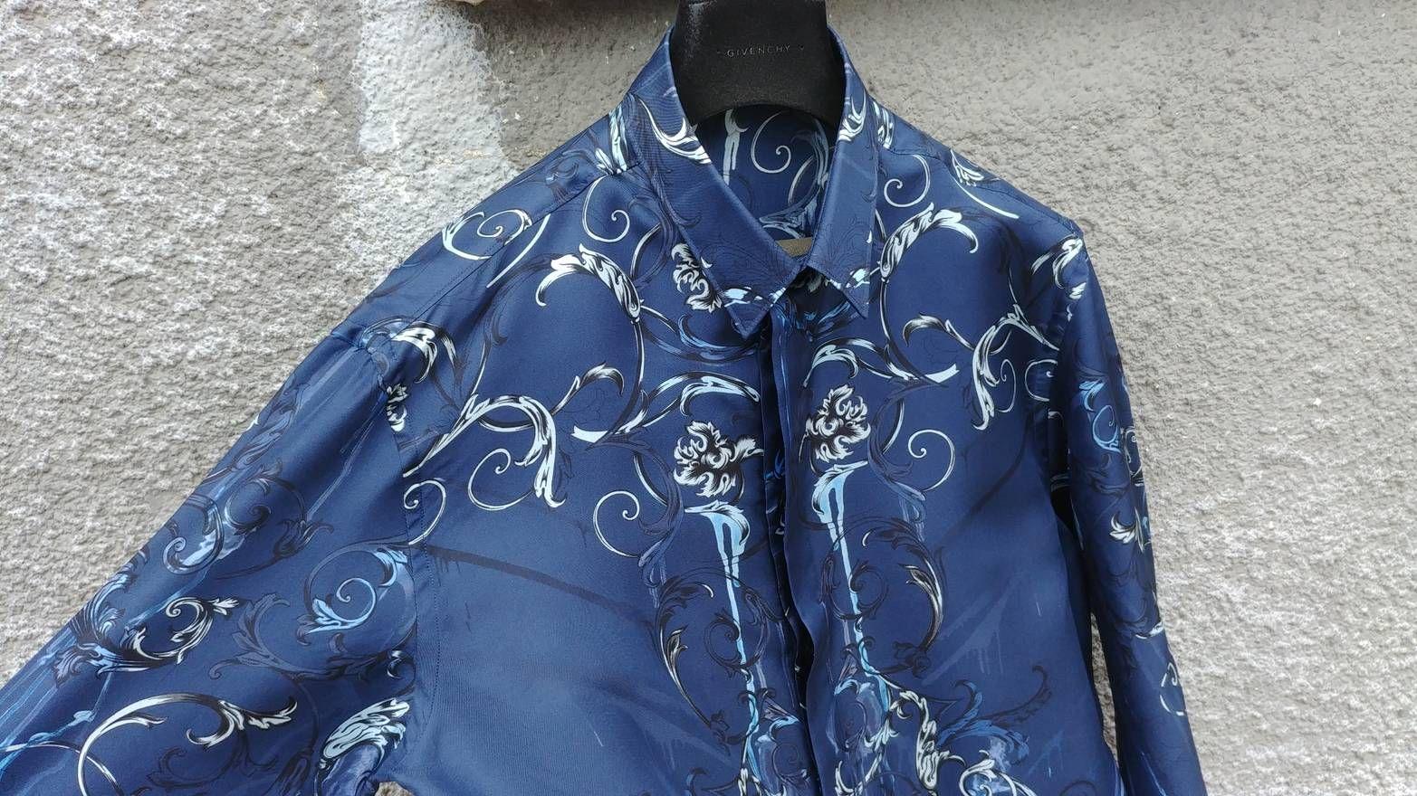 Fantazia Mens Shirt Casual Shirt Blue Blue One Size Shirts