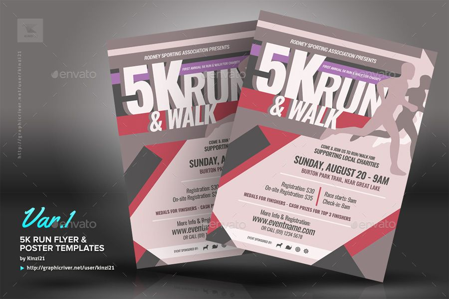 5k Run Flyer And Poster Templates Flyer Template Poster Template Event Flyer