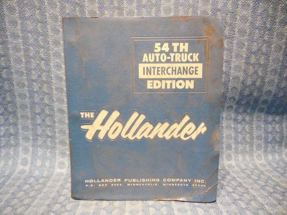 Details About 1975 1987 Original Hollander Interchange Manual Gm