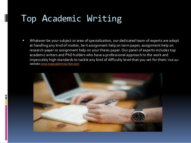 The best academic writing services